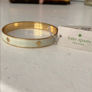 NWT Kate spade bangle gold and white